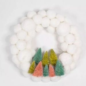 LC Lauren Conrad | Boho Bottle Brush PomPom Wreath